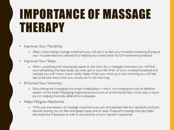 Importance of Massage in Pune